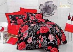 Povlečení Carmen červená 200x240 bavlněný satén - ložní povlečení 200x240