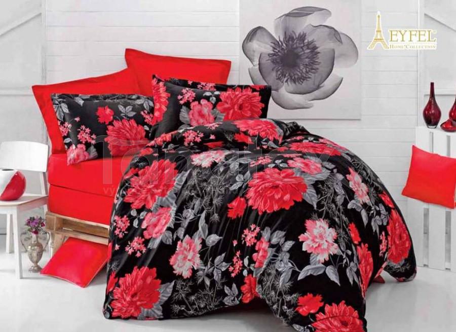 Povlak bavlněný satén Carmen červená 50x70 - povlak 50x70