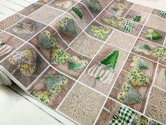 Srdíčka zelená metráž - směsový materiál