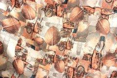 Umělé hedvábí - Listopad metráž - umělé hedvábí