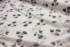 Metráž Černošedé kytičky na bílé metráž - Bavlna - bavlna se vzorem