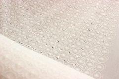 Metráž Bílá se štykováním metráž - Bavlna - bavlna se vzorem