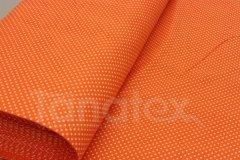 metráž Puntíček v oranžové metráž - Bavlna - bavlna se vzorem - 150cm