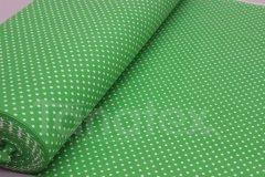 metráž Puntíček v zelené metráž - Bavlna - bavlna se vzorem - 150cm