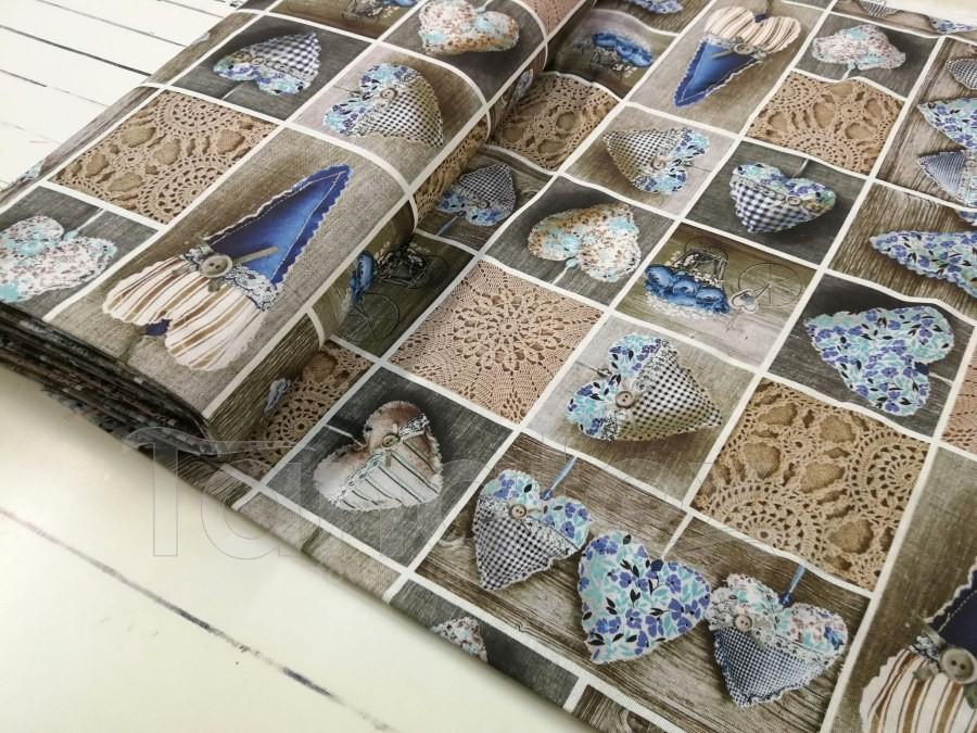 Srdíčka modrá - směsový materiál