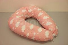 Kojící polštář velký Obláčky růžovolososové Kojící polštáře - Kojící polštář velký