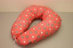 Kojící polštář velký Ovečky v růžové Kojící polštáře - Kojící polštář velký