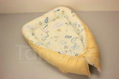 Hnízdečko Čáp s miminkem - písková Hnízdečko pro miminko - Hnízdečka do postýlky z bavlny