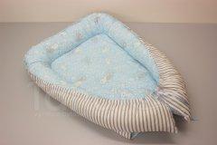 Hnízdečko Králíček - šedý pruh Hnízdečko pro miminko - Hnízdečka do postýlky z bavlny