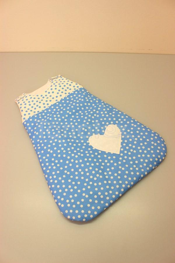 Spací pytel malý z bavlny - kombinace modrých puntíků - Spací pytel pro miminko