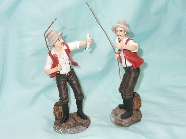 Rybář stojící střední