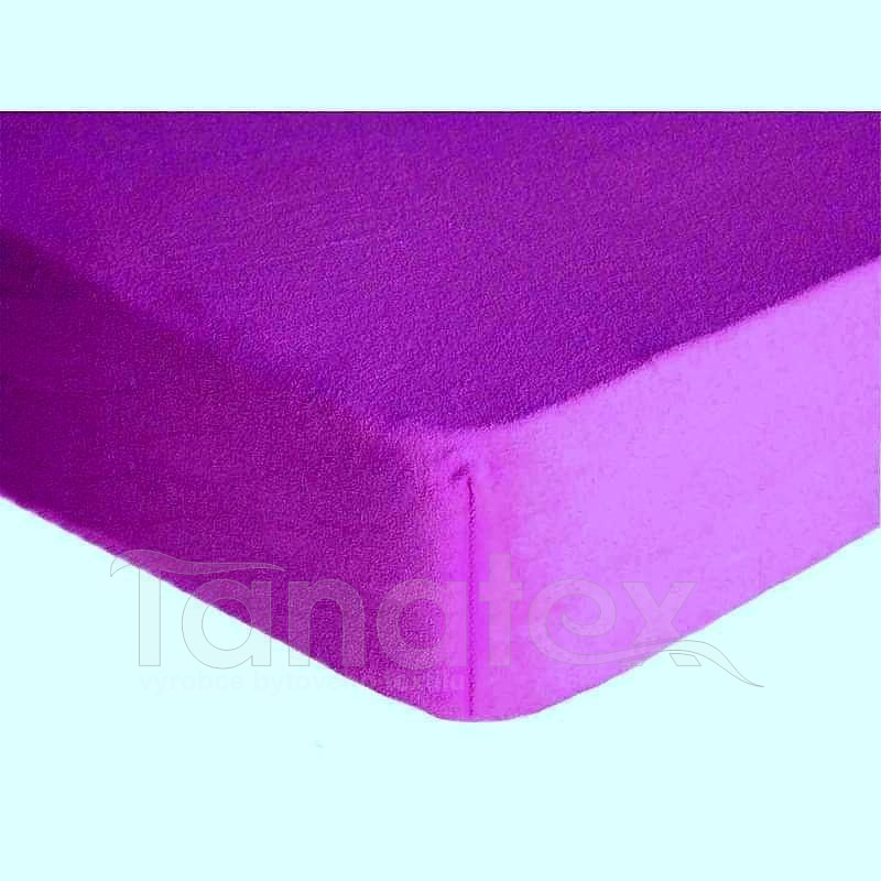 Prostěradlo jersey č.41 středně fialové