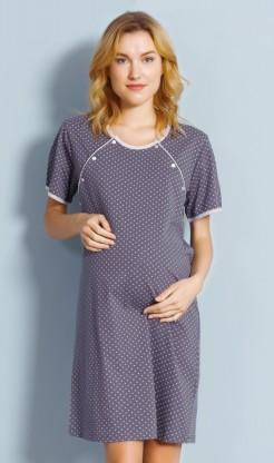 Dámská noční košile mateřská Ema - krátký rukáv
