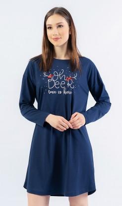 Dámská noční košile s dlouhým rukávem Oh deer
