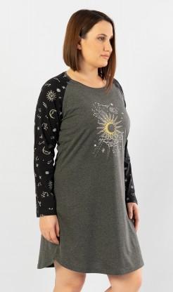 Dámská noční košile s dlouhým rukávem The moon