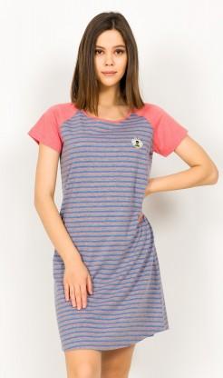 Dámská noční košile s krátkým rukávem Simona - krátký rukáv