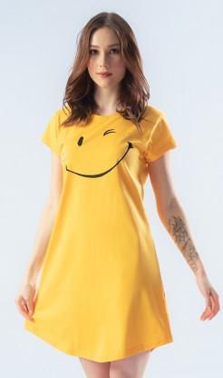 Dámská noční košile s krátkým rukávem Smile - Ženy | Dámské noční košile | Dámské noční košile s krátkým rukávem