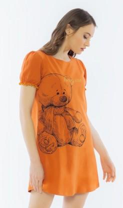 Dámská noční košile s krátkým rukávem Velký méďa