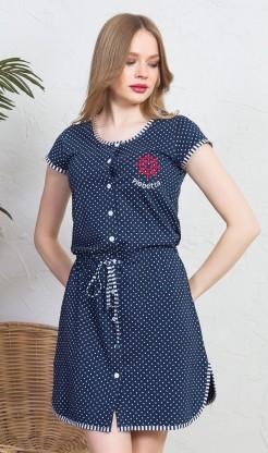 Dámské domácí šaty s krátkým rukávem Kormidlo
