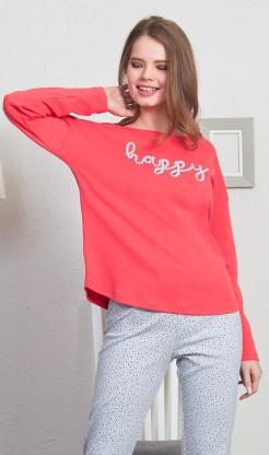 Dámské pyžamo dlouhé Happy