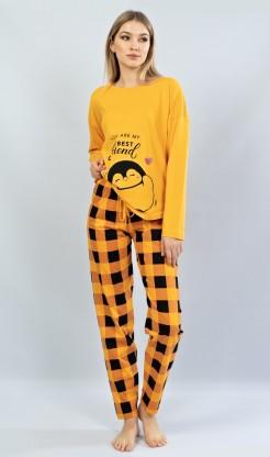 Dámské pyžamo dlouhé Tučňák - dlouhý rukáv