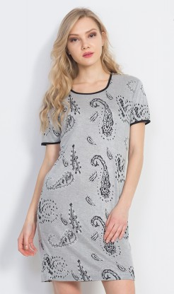 Dámské šaty Judita - Dámské noční košile s krátkým rukávem