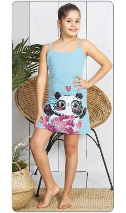 Dětská noční košile na ramínka Panda