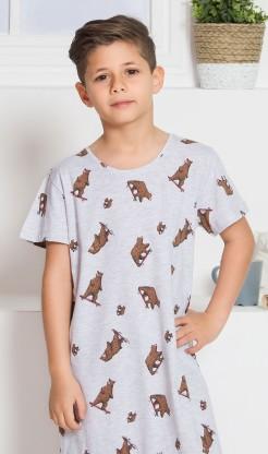 Dětská noční košile s krátkým rukávem Medvědi - Chlapecké noční košile