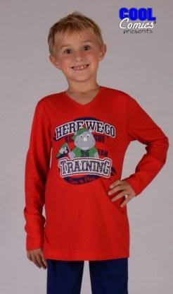 Dětské pyžamo dlouhé Nosorožec - Chlapecká pyžama s dlouhým rukávem