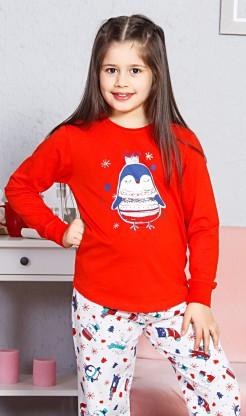Dětské pyžamo dlouhé Tučňák velký - Děti | Holky | Dívčí pyžama | Dívčí pyžama s dlouhým rukávem