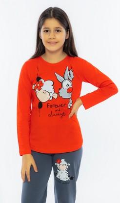 Dětské pyžamo dlouhé Vlk a ovečka
