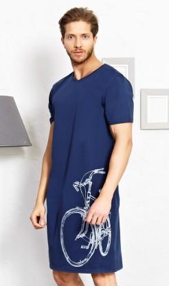 Pánská noční košile s krátkým rukávem Bicykl - Ženy | Dámské noční košile | Nadměrné dámské noční košile