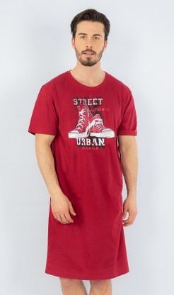 Pánská noční košile s krátkým rukávem Tenisky - Pánská noční košile